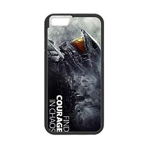 iPhone 6 más la caja de 5,5 pulgadas Cubiertas Negro de Halo 5 Guardianes único 15D caja del teléfono V7Q5CD