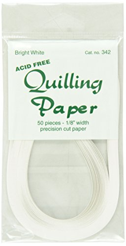 Lake City Craft 1/8-Inch Quilling Paper, Bright White