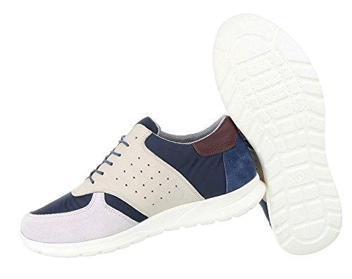 Herren Schuhe Sneaker Leder Schnürer Modell Nr.2 Beige