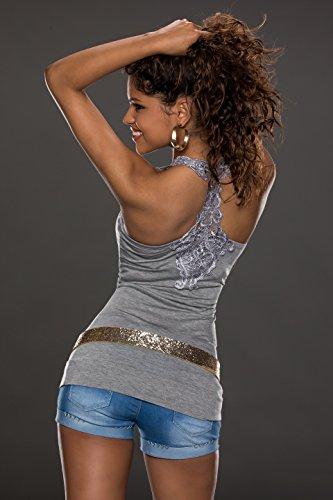 las Top camiseta cord la del para mujeres de atractivo EHrwxHqfO