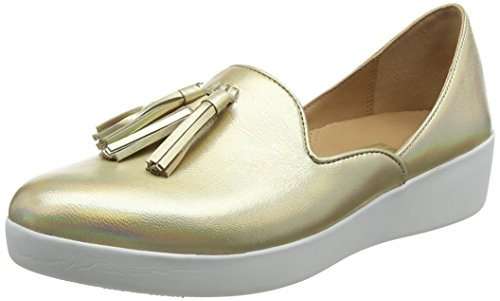 Tassel D'orsay gold Donna Oro Loafers Iridescent Mocassini Fitflop 536 Superskate TwnEqCTd