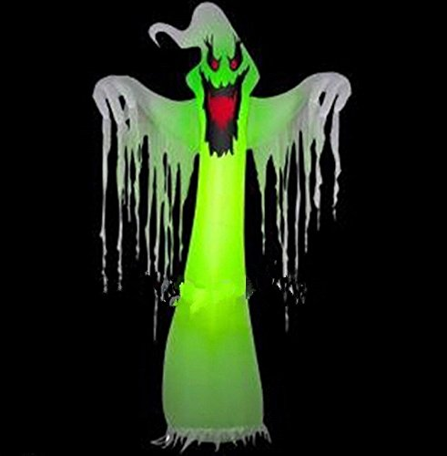 Popular Giant Inflatable LED Ghost for Halloween Decoration 10ft with Blower 110V OR (220 Volt Halloween)