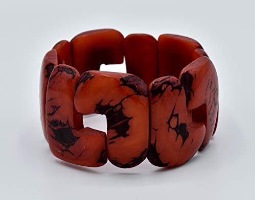 Tagua Nut Bracelet in Red ()
