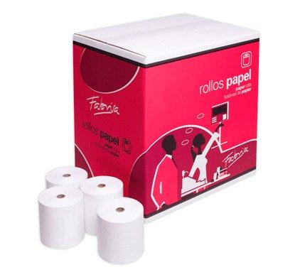 Rollo de papel térmico de 80 x 60 mm para TPV. Caja de 80 ...