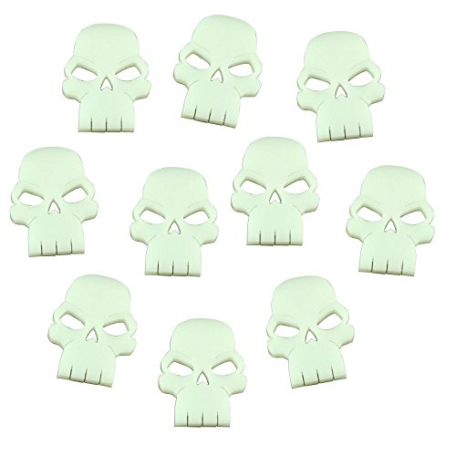 Skull Tokens (Casualty Markers, White, Set of 10) - Skull Tokens