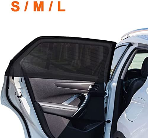 2Pack Universal Super Elastic Car Window Sunshades 22″ to 48″, Breathable Mesh Window Cover for Car, Side Window Screen for Car Camping Trip, Fit for Most Cars Truck SUVs