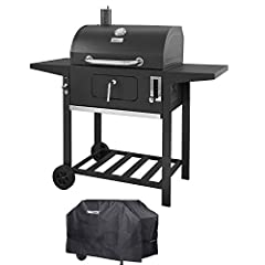 Enjoy the delicious aromas when you cook with this Royal Gourmet Charcoal Grill. You will have enough space to grill anything with a 393 square inch primary cooking area, plus a secondary cooking space 205 square inches.  This charcoal grill ...