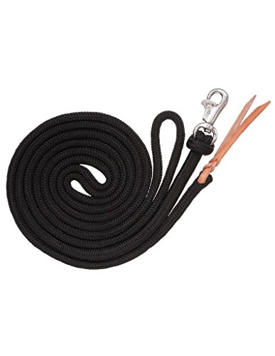 Tough 1 Training Lead with Trigger Bull Snap, Black, 14' - Lead Bull Snap