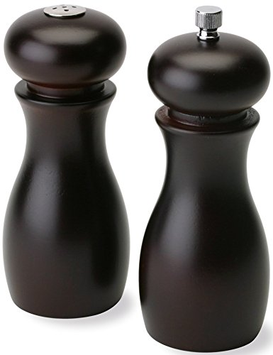 Olde Thompson 6'' Caffe Wood Pepper Mill and Salt Shaker Set by Olde Thompson (Image #6)