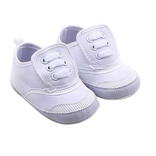 Soft Sole Baby Crib Shoes (Binmer(TM) Infant Baby Boy Girl Soft Sole Crib Shoes Sneaker Prewalker Crib Shoes (Age:0~6 Month, White))