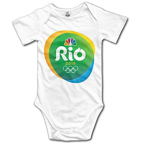 Baby Onesie 2016 Summer Rio Olympics Logo Short Sleeve Baby's Cotton Gauze