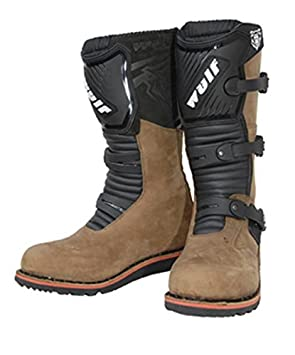 Wulfsport New Style Adult Trial Boots Motorbike Motocross Motorcycle Boots Shoes Brown EU45