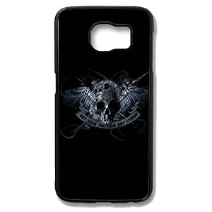 Samsung Galaxy S6 Case - Skull With Wing Protective Case Soft Flexible TPU Skin Scratch-Proof Case for Samsung Galaxy S6 Black