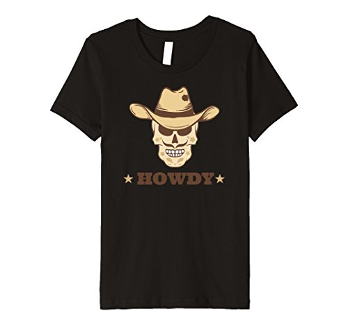 Kids Howdy Cowboy Western Hat Lover Tshirt | Texas Mustache Gifts 10 Black - Dallas Cowboy Kids Costumes