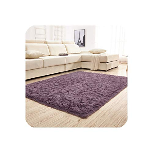 Drem-wardrobe Carpet Home Textile Plain Non Slip Rug Living Room Bedroom Sofa European Thickening Plus Soft Silk Mat Bedside Blanket 100X200Cm,4,160X250Cm