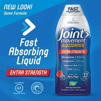 Wellesse Joint Movement Glucosamine With Chondroitin & Msm GoodPack2Pack (33.8 fl oz x 2)