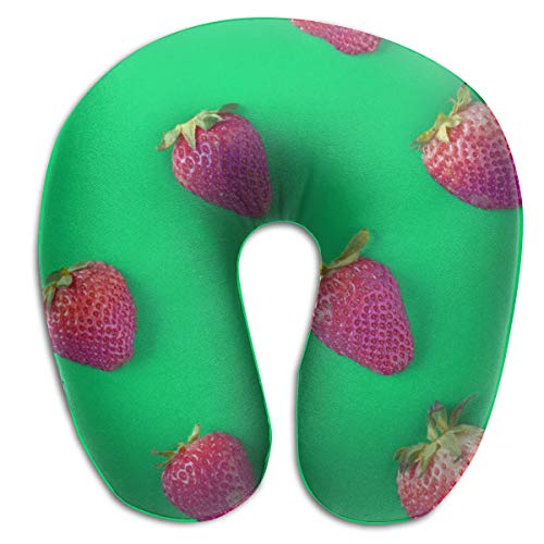 - KopgLnm Berry Closeup Colorful Neck Pillow Comfortable Soft Microfiber Neck-Supportive Travel Pillow for Home, Neck Pain