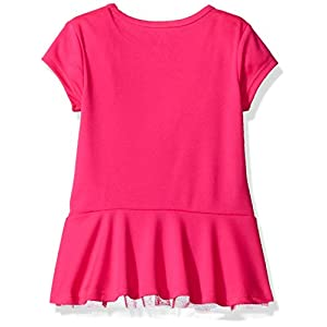 Adidas Toddler Girls' Short Sleeve Tee and Capri Set, Neon Pink, 2T