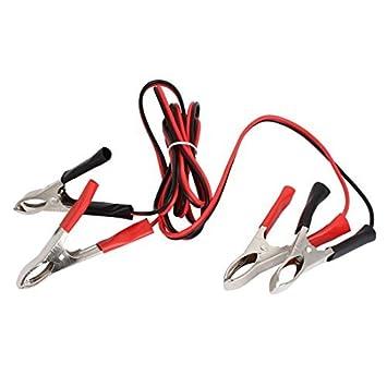 De composición doble eDealMax cocodrilo clip de la batería Dispositivo de conexión de prueba aisló el