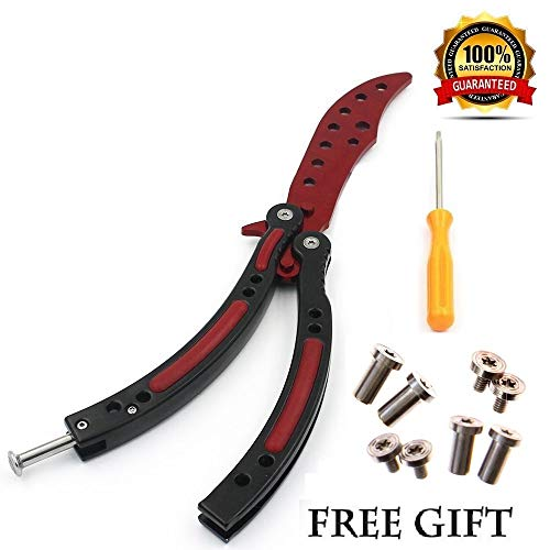 Anlado Balisong Butterfly Knife Trainer Practice with O-Ring Latch - for Beginner, Children, Butterfly Knives Lover and More ()