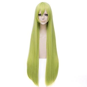 Amazon.com  Aicos Fashion 100 CM Long Light Green Customes Anime Cosplay Wig  for Women +Free Wig Cap  Beauty a00a044531