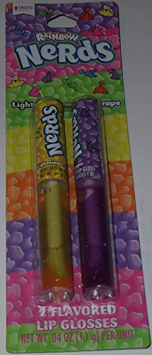 Taste Beauty Lip Gloss 2 pack - Rainbow Nerds Lip Gloss - Lightning Lemon & Grape