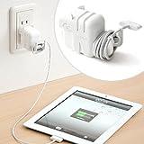 サンワダイレクト iPadケーブルホルダー ホワイト 200-CA020W