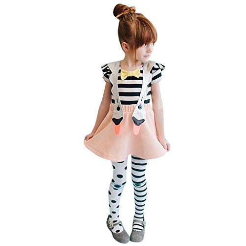 Sunhusing Children Baby Girls Cartoon Swan Animals Suspender Skirt Toddler Kids Overalls Outfits Clothes -