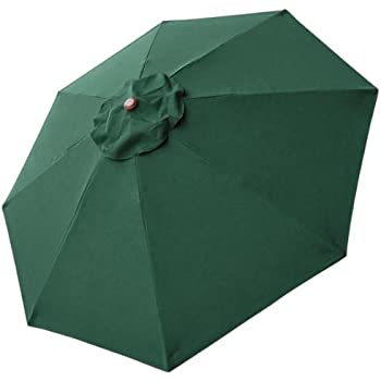 8 Ft Patio Umbrella Replacement Sunshade Canopy Outdoor Top Green 8 Foot 8  Ft Green Polyester 8 Rib Umbrella Replacement Canopy Air Vented Top UV  Protect ...