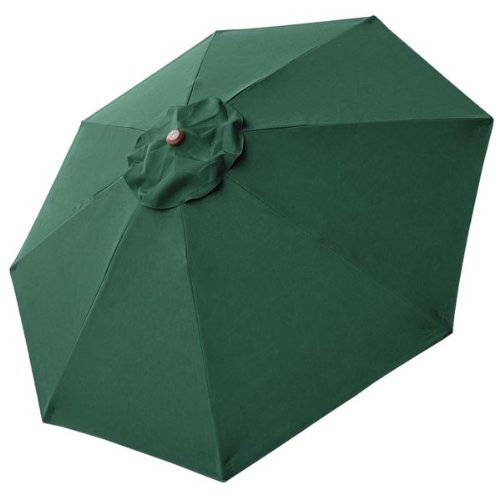 8 Ft Patio Umbrella Replacement Sunshade Canopy Outdoor Top Green 8-foot 8 Ft Green Polyester 8-rib Umbrella Replacement Canopy Air Vented Top UV Protect Sun Shade Water Resistant for Outdoor Patio Cover Furniture Beach Market Stall (Top Outdoor Furniture Brands)