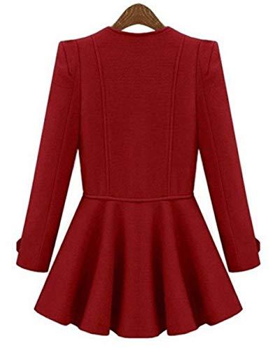 Autunno Fit Breasted Transizione Maniche Rot Moda Giacca Slim Lunghe Di Parigine Lana Elegante Cappotto Double Grazioso Vintage Corto Stile Fashion Donna Outerwear YvUIx