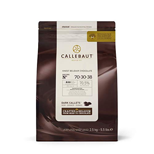 Callebaut 70% dark chocolate chips (callets) 2.5kg ()
