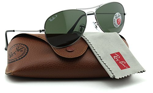 Ray-Ban RB3362 004/58 Cockpit Gunmetal Frame / Green Polarized - Gunmetal Aviator Cockpit Sunglasses