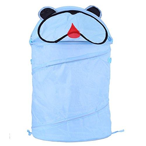 Cute Animal Storage Bucket Folding Cylinder Laundry Basket Toy Box 9 Style Toy Box Organizer Storage Bag