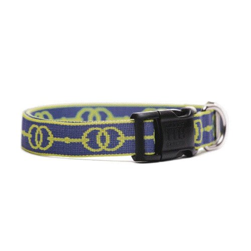 Deauville Designer Dog Collar- Blue and Green Medium