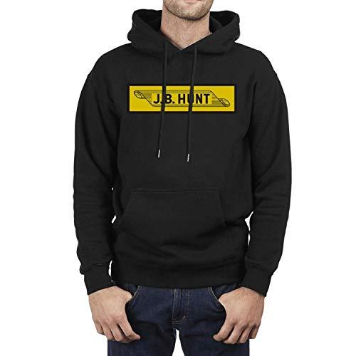 (SASIA Men's Black JB-Hunt- Fleece Pullover Hoodie)