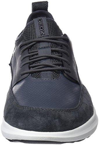 Geox Men's U Traccia a Trainers, Blue Grey (Dk Grey C9002)