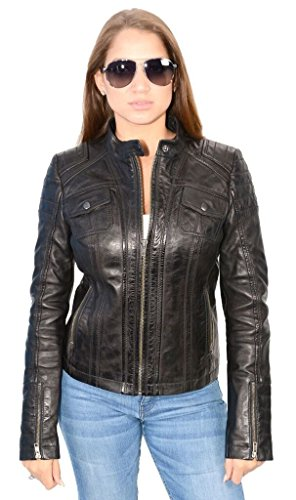 Avenue Women's Racer Short Fashion Cold Weather Sexy Look Very Soft Real Leather New(4XL) by Avenue