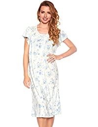 trulee Women Floral Print Super Soft Casual Night Gown Pajama Sleepwear