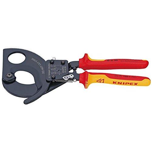 KNIPEX(クニペックス)9536-280 絶縁ケーブルカッター 1000V(ラチェット式 スポーツ レジャー DIY 工具 カッター top1-ds-1849415-ah [簡素パッケージ品] B071D87VDS