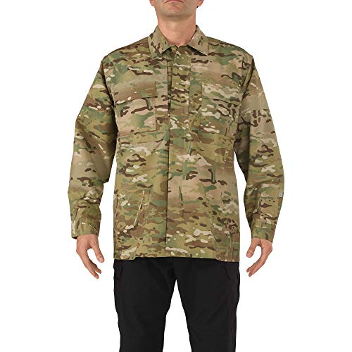 5.11 Tactical Men's Polyester-Cotton Ripstop Fabric Multicam TDU Long Sleeve Shirt, Style 72013
