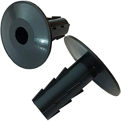 50x 8mm Black Single Cable Bushes-Feed Through Wall Cover-Coaxial/Coax Hole/Entry Tidy Cap - Grommet-Satellite-Brick-Plate-RG6-CCTV Loops