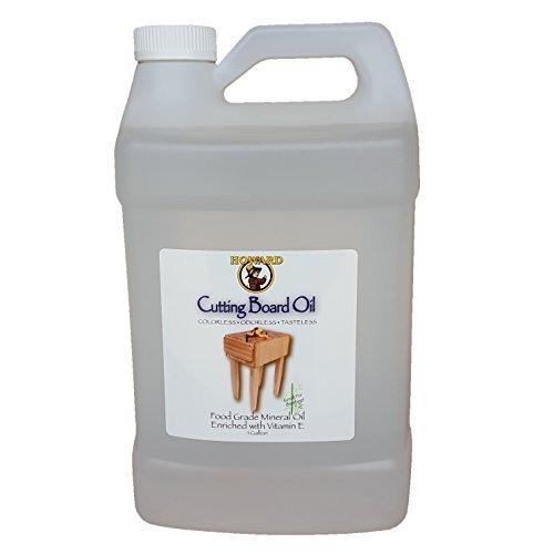Howard Butcher Block Oil, Enriched with Oils, Food Grade Mineral Oil with Vitamin E Butcher Block Oil & Conditioner, Bamboo, Butcher Blocks, Counter Tops, 128 oz, Gallon