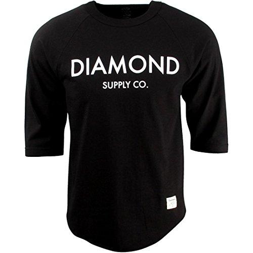 Diamond Supply Co. - Mens Diamond Classic Raglan, Size: Small, Color: Black