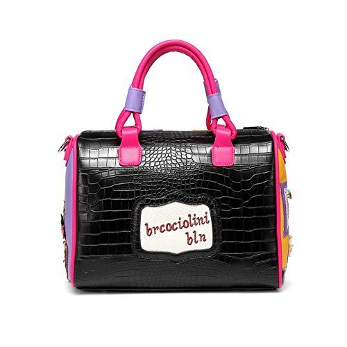 Messenger Bag Red Casual Satchels FTSUCQ Boston Satchels Womens Shoulder Handbags Purse Hobos Vintage x1A84qY