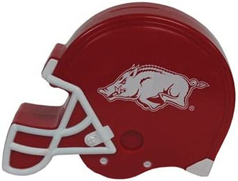 Game Day Outfitters NCAA Arkansas Razorbacks Plastic Helmet Bank, One Size, Multicolor