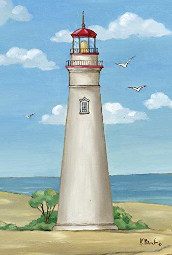 Toland Home Garden Marblehead Lighthouse 28 x 40 Inch Decorative Ohio Beach Summer Seagull Bird House ()