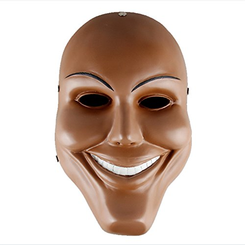 [XCOSER Purge Mask Horrible Style Mask for Cosplay Halloween Party Smiling Mask] (Smiling Man Mask)