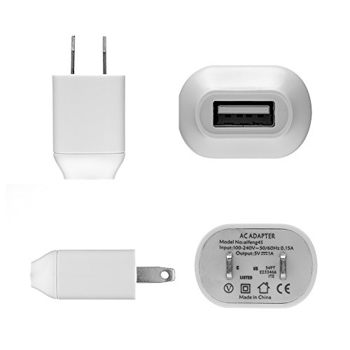 Podofo US Plug USB Power Charger AC Adapter for Amazon Kindle 3 4 5, Amazon Kindle Paperwhite 2 3 (White)