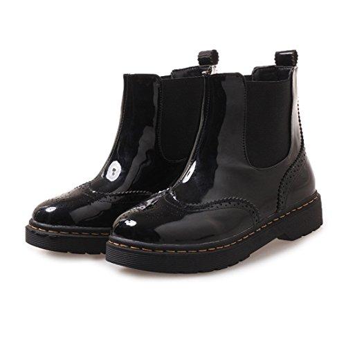 Martin black bassi stivali piatto Martin tubolari Martin boots fondo Stivali Sandalette casual DEDE stivali qwFPBUT